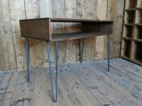 DESK industrial hairpin legs upcycle work side table salvage hunters gplanera
