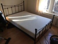 Double Bed with Frame and Mattress