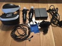 PS4 VR headset + 2 motion controllers