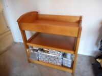 Wooden Baby changing table with pull out shelf