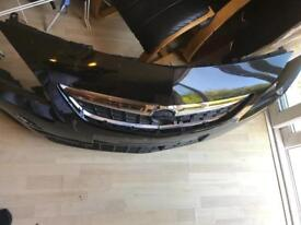 Vauxhall Astra front bumper black