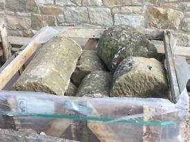 Reclaimed Half Round York Stone Wall Tops