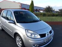 RENAULT SCENIC DYMANIQUE, 58 PLATE, MILEAGE 67K, SERVICE HISTORY, FULL YEARS MOT