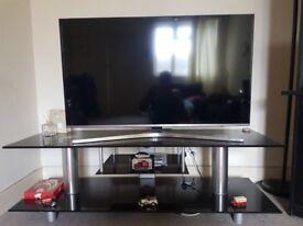 TV stand with shelves 50x150 cm
