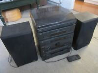 JVC Stereo System with record deck, CD, radio & double cassette