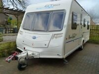4 berth caravan Bailey Ranger GT60 520/4 2010 Special Edition Lightweight Van - with Motor Mover