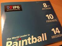 10 IPG Paintball tickets x2 sets