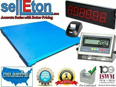 Floor Scale 60 X 60 With Printer Scoreboard Warehouse 10000 Lbs X 1 Lb