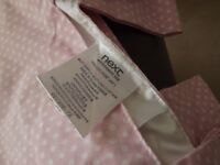 Next Tag Top Pink spot with a butterfly Curtains 66 X54 inches