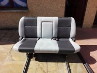 Campervan seat with rails