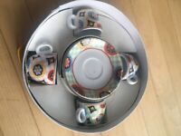 Maxwell and Williams Kaleidoscope Demi cups and saucers