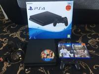 PS4 slim 500gb 3games