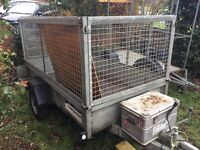 8ft x 4ft Caged and Braked Trailer available for Hire