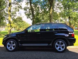 £6,500 Black BMW X5 3.0 d Sport 5dr. 2 OWNERS. NEW FRONT SUBFRAME, NEW BRAKES