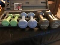 Set of 6 dumbbells