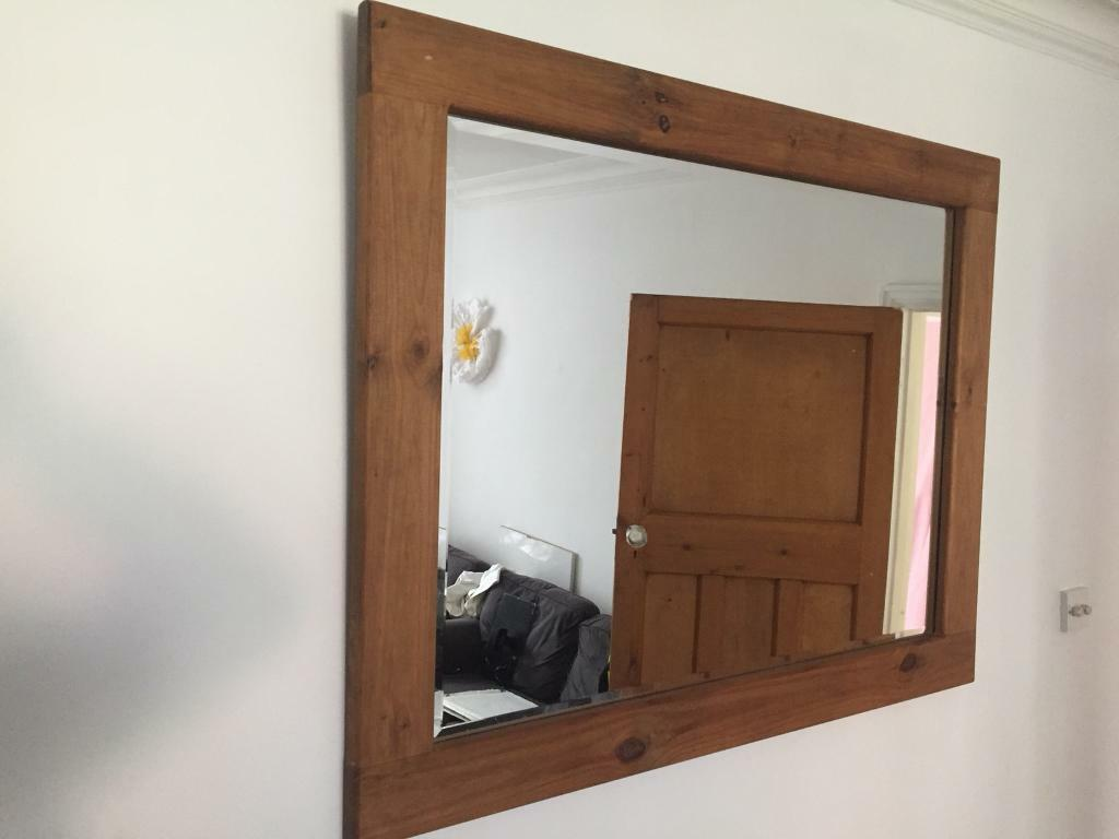 Solid wood frame mirror 120 x 95cm