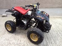Quad 110cc, 4 stroke automatic with electric start. Lots of new parts fitted