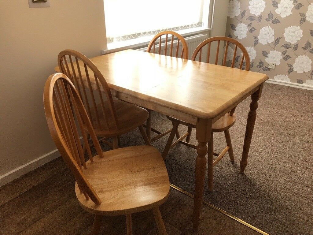 Pine Effect Table And Chairs For Sale