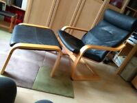 IKEA POANG Laminated bent wood Chair and Stool