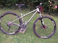 titanium 29er bike.