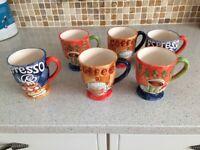 6 display coffee mugs