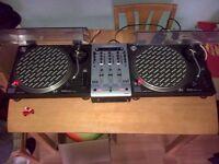 Technics SL-1210MK2 Turntable and Numark Matrix 3 Mixer