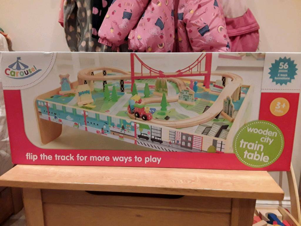 Carousel Wooden Train Table In Redditch Worcestershire Gumtree