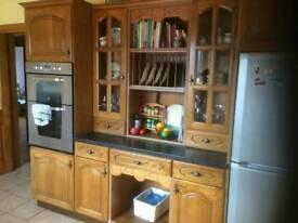 Solid Oak kitchen. Excellent deal