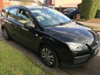 Ford Focus LX TDCI 1560cc Turbo Diesel 5 speed manual 5 door estate 06 plate 30/04/2006 Black