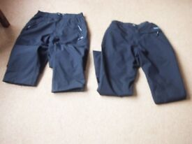 2 PAIRS OF CRAGHOPPERS AQUADRY GOLF TROUSERS 32W