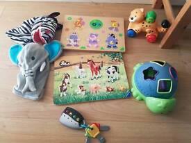 Set of toddler toys