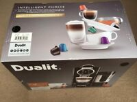 ( New in Box ) Dualit 85180 Cafe Cino Coffee Machine - Black ( Built in milk frother ) - Nespresso
