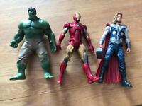 Marvel hulk, Thor and Ironman from Disney store