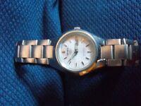 Ladies Sieko 5 stainless steel watch