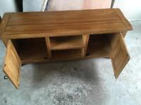 Solid Oak Large TV Cabinet