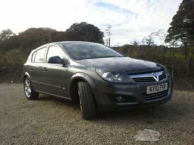 2010 vauxhall astra 1.6 turbo 16v sri. Metallic grey. 5 door.