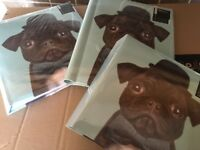 Set of three photo albums-pug design- Christmas gift
