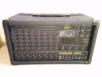 Peavey XRD 680 Mixer Amplifier + cables