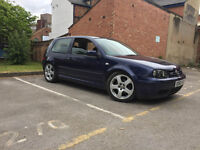 VW Golf MK4 gti 2.0 full MOT, lowering