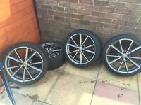 19 inch Audi rs5 alloys and tyres