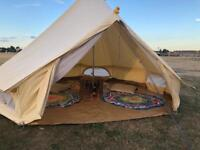 4M Canvas Bell Tent for Sale