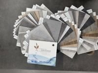 Vinyl flooring with an easy to install click system.