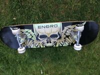 skateboard (with skull picture)