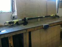 RYOBI extending electric pole pruner.