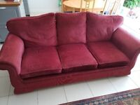 FREE Good quality sofa and 2 arm chairs