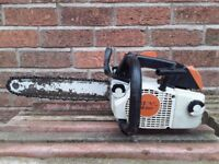 STIHL MS200T TOP HANDLED CHAINSAW, FULLY SERVICED
