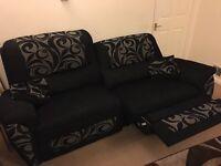 2x 2 Large Reclining Sofas