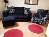 FOR SALE - 3 SEATER SOFA, CHAIR & STORAGE FOOT STOOL