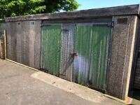 Free concrete sectional double garage to be dismantled and collected