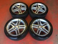 17'' GENUINE MERCEDES C CLASS AMG SPORT 5 SPOKE ALLOY WHEELS TYRES